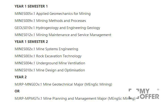 澳洲采矿工程硕士